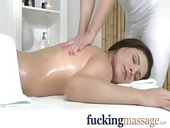 Massage Rooms Cute young lesbian has orgasm