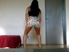 Brazilian woman dances