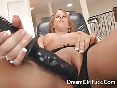 Hot Blonde Sucked A Big Black Cock