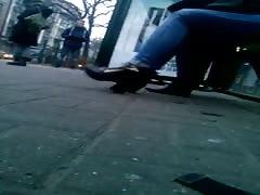 Candid girl heels