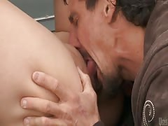 horny Japanese pervert Miko Lee smashed on the car!