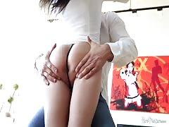 Black-haired goddess fucks in bedroom with lover in the vid by Pure Mature