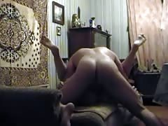 Awesome amateur sex on the floor with a slender Russian