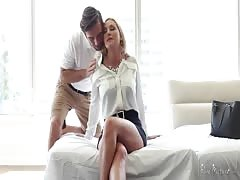 Glamour mommy preparing herself for sex in the video by Pure Mature