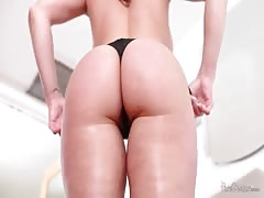 Big-butt milf guzzles  juicy cleave of her label new dude
