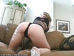 Glamour In The Crack blonde demonstrates her ideal butts