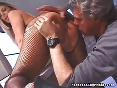 Astonishing blonde getting a nasty dose of pleasure by slave