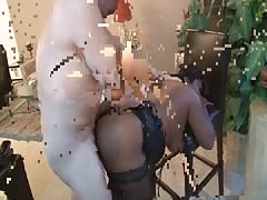 Kinky ebony performs an amazing blowjob right before anal sex