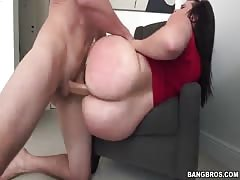 Spicy woman with big ass taking his huge wiener in her tight butts