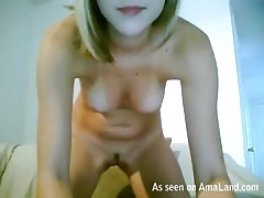 Solo scene with first-class beauty with huge natural boobies