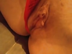 Cock-addicted damsel is demonstrating off her trimmed cunt