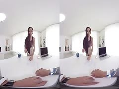 Office fuck with Marta LaCroft in Virtual Reality