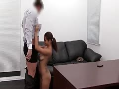 Hot Latina babe is giving a truly good blowjob in the video by Backroom Casting Couch