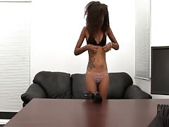 Kinky Mexican slut is sucking a white dick in the video by Backroom Casting Couch