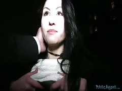 Sweet POV sex in the night with lustful brunette milf