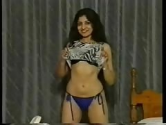 Indian girl showing off