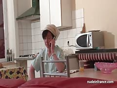 French mom seduces young guy with her ass