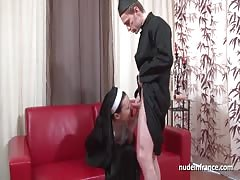 Pretty french nun ass fucked and fisted by the bad priest