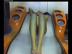 Voyeur nude girl in Ostrava solarium FULL visit Part 003
