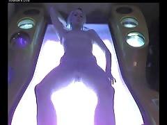 Voyeur nude girl in Ostrava solarium FULL visit Part 002