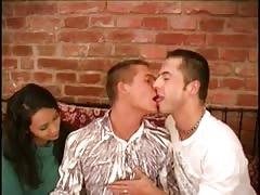 Annabel, her boyfriend and his boyfriend