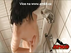 Amateur girl taking a shower
