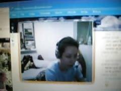 feet sole in webcam my friend long toes
