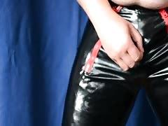 fledgling  jacks  in latex panty
