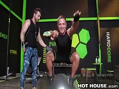 steaming House Sweaty Workout goes assfuck!