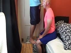 Faggot sissy slut sucks cock