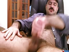 big pecker Daddy masturbate Off & spunk