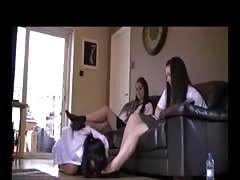 2 student use student lesbian feet slave part 1