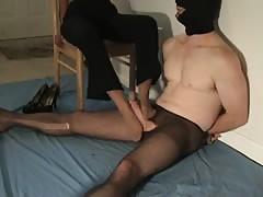 pantyhose footjob punishment