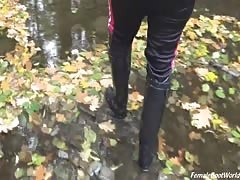 Walking through the stream
