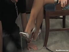 Amazing Foot Fetish Clip. Foot Domination by Mistress Londyn