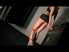 Janina Full Ballbusting in Mini Skirt