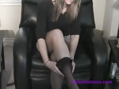 Laura's Fishnet Stocking Soles