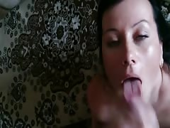Russian inexperienced hand job and cumshot