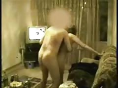 Amateur Turkish Lady Ravaged on Floor and Couch