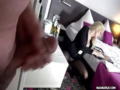 MAGMA film German blonde fledgling  in stockings  dominated
