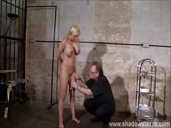 Pussy tortured Melanie Moons busty bdsm and german slave gir