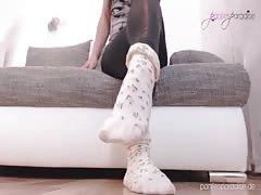 Pantiesparadise - NicolesNylons shows us her sexy socks