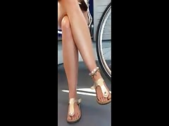 hot legs of a wonderful adult woman