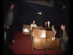 pissing gang bang in cinema