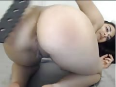 spanish hottie with meaty pussy paddles ass