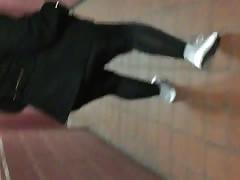 black spandex pink panties