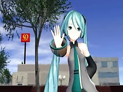 MMD Blue Hair Cutie Sexy Dance Open Pussy CIM GV00182