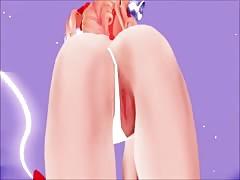 MMD Sexy Cute Babe Big Bouncy Boobs Open Pussy Xmas GV00163