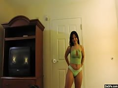 super hot latina working a dim jizz-shotgun