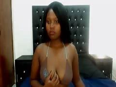 fantastic ebony Shows affable tits